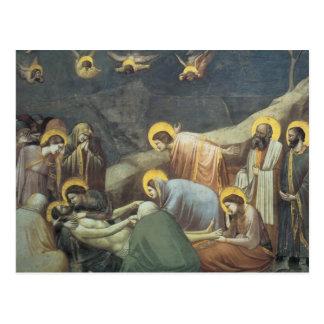 Carte Postale Lamentation de Giotto du Christ
