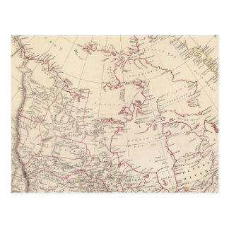Carte Postale L'Amérique du Nord britannique
