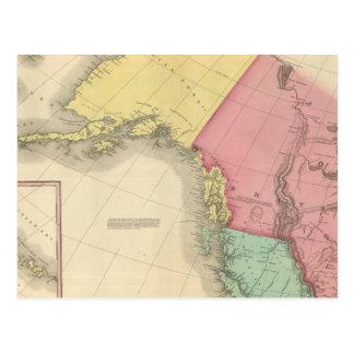 Carte Postale L'Amérique du Nord du nord-ouest