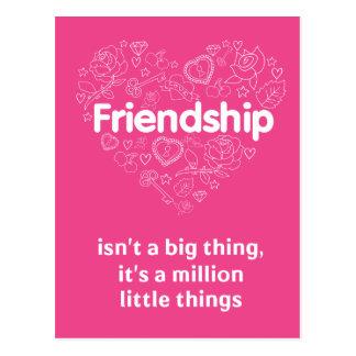 Carte Postale L'amitié est de citation mignonne million de