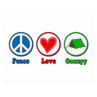 Carte Postale L'amour de paix occupent