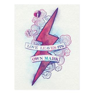 Carte Postale L'amour du charme | de Harry Potter laisse sa