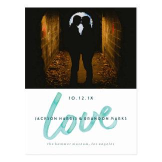 Carte Postale L'amour est des annonces gaies de mariage