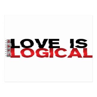 Carte Postale L'amour est logique