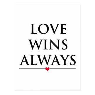 Carte Postale L'amour gagne toujours