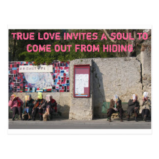 Carte Postale L'amour vrai invite une âme pour sortir de la