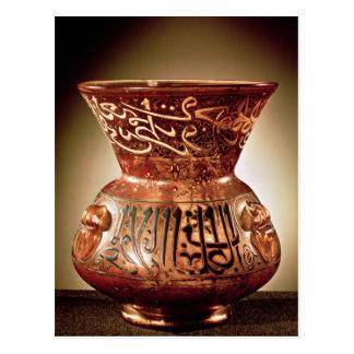 Carte Postale Lampe de mosquée avec la décoration émaux inscrite