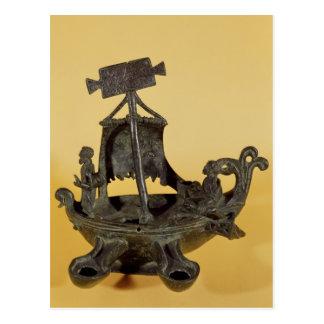 Carte Postale Lampe sous forme de bateau