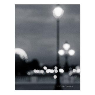 Carte Postale lampost sur Pont Alexandre à Paris