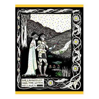 Carte Postale Lancelot et Hellawes la sorcière
