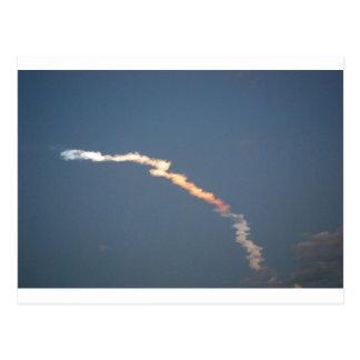 Carte Postale Lancement de découverte de navette spatiale