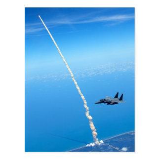 Carte Postale Lancement final de navette spatiale l'Atlantide -