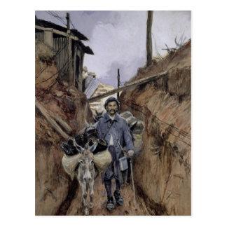 Carte Postale L'âne, la Somme, 1916