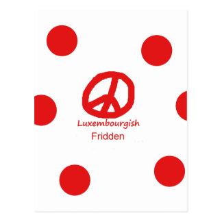 Carte Postale Langue et conception luxembourgeoises de symbole