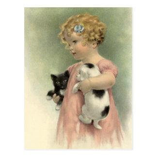 Carte Postale L'animal familier égaré VICTORIEN VINTAGE adoptent