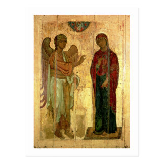 Carte Postale L'annonce d'Ustiug, c.1130-40 (tempera sur la