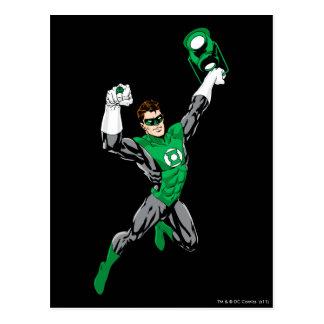 Carte Postale Lanterne verte - entièrement rendue, avec la