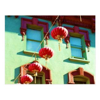 Carte Postale Lanternes chinoises dans Chinatown