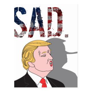 Carte Postale L'anti Président triste sarcastique drôle Donald