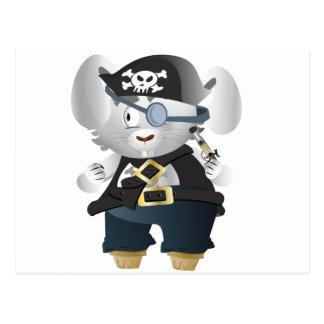 Carte Postale Lapin de pirate