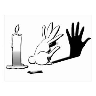 Carte Postale Lapin d'ombre par LightIllusions.com