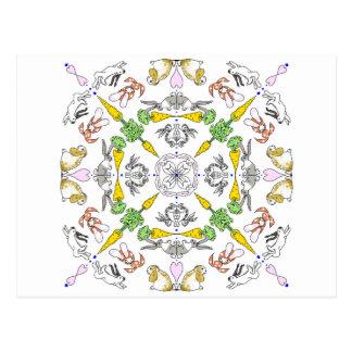 Carte Postale Lapins de kaléidoscope