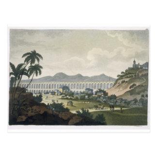 Carte Postale L'aqueduc dans le Rio de Janeiro (gravure de