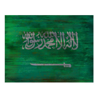 Carte Postale L'Arabie Saoudite a affligé le drapeau saoudien