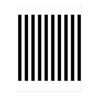 Carte Postale Larges rayures - blanc et noir