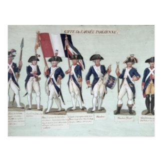 Carte Postale L'armée parisienne pendant le Français