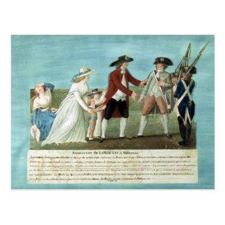 Carte Postale L'arrestation de Louis XVI et sa famille