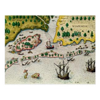Carte Postale L'arrivée de l'anglais en Virginie