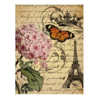 Carte Postale l'art botanique scripts Tour Eiffel de Paris