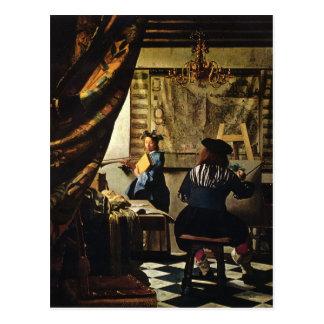 Carte Postale L'art de Johannes Vermeer de la peinture circa
