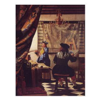 Carte Postale L'art de la peinture par Johannes Vermeer