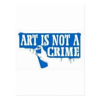 Carte Postale L'art n'est pas un crime