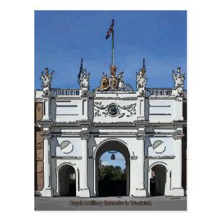 Carte Postale L'artillerie royale chahute Woolwich