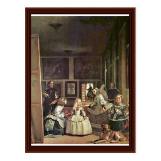Carte Postale Las Meninas (autoportrait avec la famille royale)
