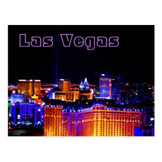 Carte Postale Las Vegas - lumière dans le ciel
