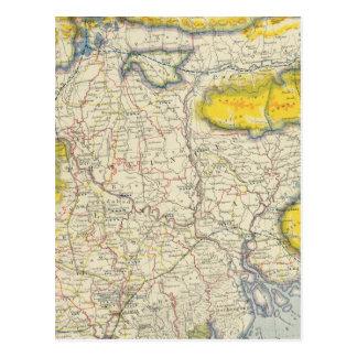 Carte Postale L'Asie du sud, Inde, Bangladesh