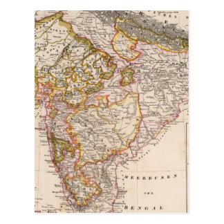 Carte Postale L'Asie, Inde, Bangladesh