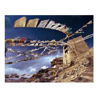 Carte Postale L'Asie, Inde, Ladakh, Leh. Connu en tant que peu