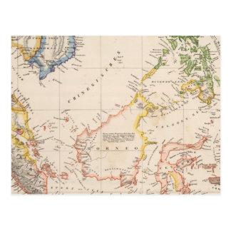 Carte Postale L'Asie, Indonésie, Philippines, Indes est