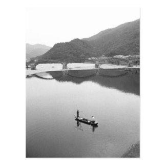 Carte Postale L'Asie, Japon, Iwakuni. Pêcheurs et 2 historiques