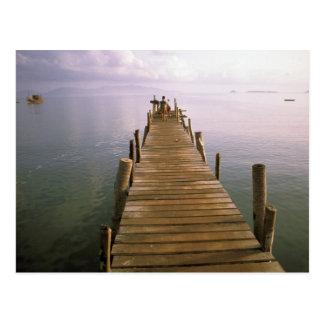 Carte Postale L'Asie, Thaïlande, île de Ko Samui. Dock