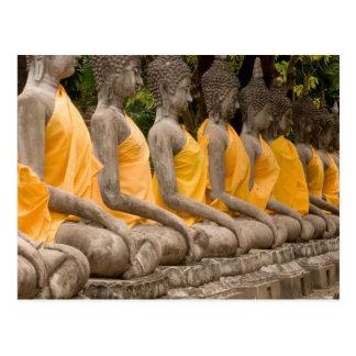 Carte Postale L'Asie, Thaïlande, Siam, Buddhas à Ayutthaya