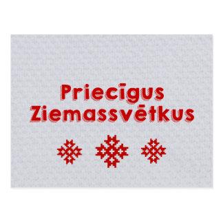 Carte Postale Latvian de Joyeux Noël de Priecīgus Ziemassvētkus