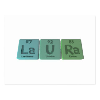 Carte Postale Laura en tant que radium d'uranium de lanthane