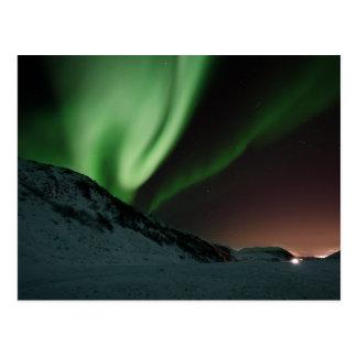 Carte Postale L'aurore verte Borealis Norvège de lumières du