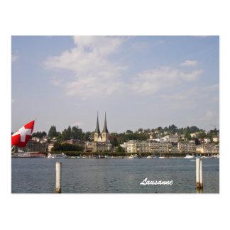 Carte Postale Lausanne-Lac Genève
